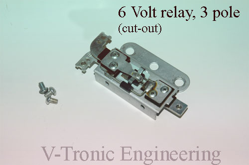 6 Volt Relay 3 pole « www.v-tronic.com A Cut Out Relay Wiring on wiring switch, wiring an occupancy sensor, fuel pump relay, wiring diodes, building a relay, dpdt relay, testing a relay, wiring diagram, toggle relay,